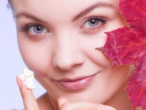 Herbst Gesichtspflege