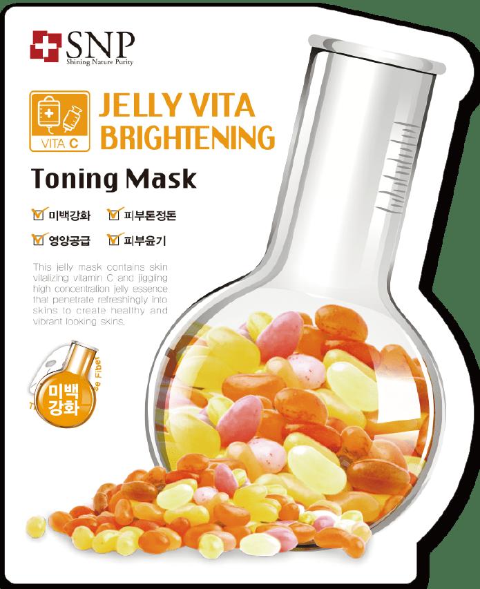 SNP Jelly Vita Brightening Toning Mask Vitalizing Facial